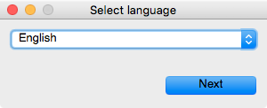 Select Language Screen