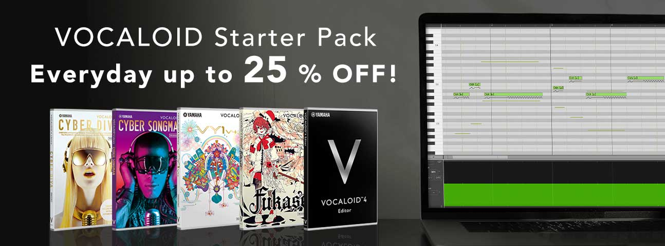VOCALOID4 JAPANESE + ENGLISH Starter Pack series