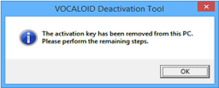 VOCALOID Deactivation Tool