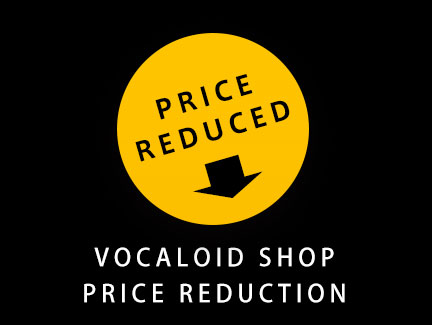 Price Revison of the VOCALOID Libraries of VOCALOID SHOP