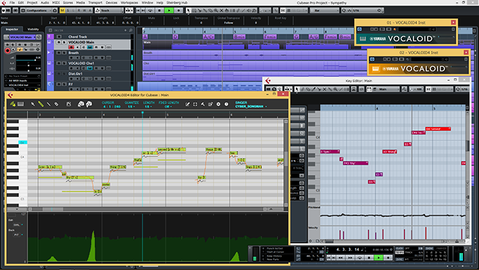VOCALOID4 Editor for Cubase User Interface