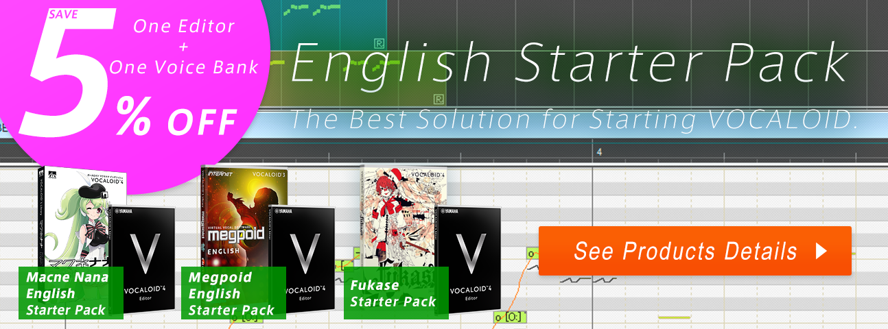 VOCALOID4 ENGLISH Starter Pack