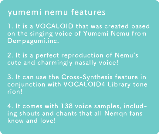 yumemi nemu features