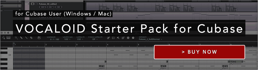 VOCALOID4 Starter Pack Series for Cubase