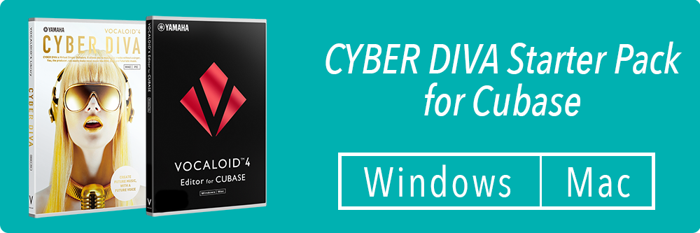 CYBER DIVA + VOCALOID4 Editor for Cubase